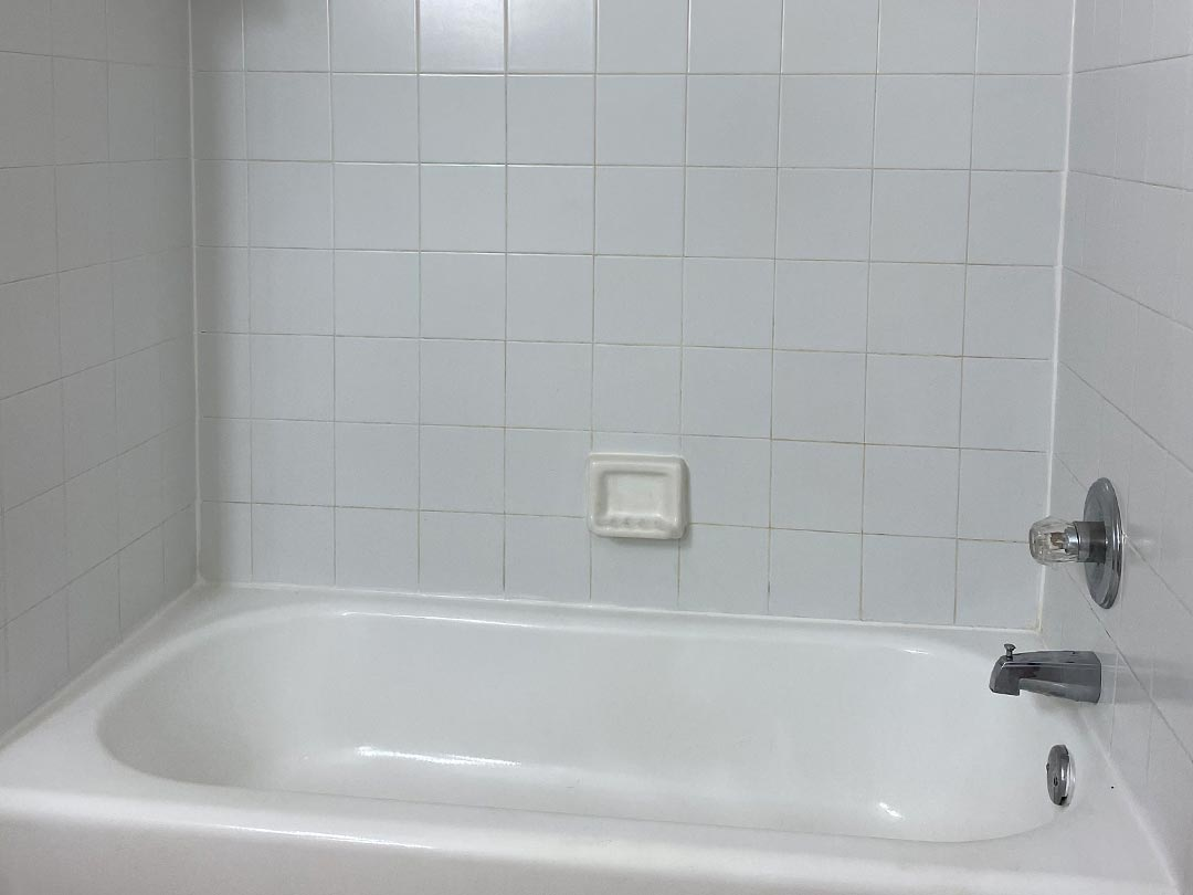 Photo Of A Relaxing Apartment Bathroom.