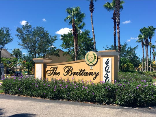 Photo Of Our Community Entrance Sign And Beautiful Landscaping.